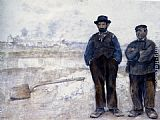 Jean Francois Raffaelli The Two Workmen painting